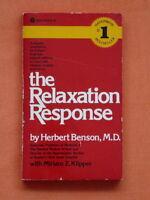 """#1 BESTSELLER"""" """"THE RELAXATION RESPONSE""""  HERBERT BENSON M.D."""