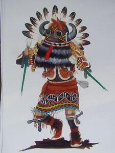 Hopi-Kachina-print-13-Southwest-art  Hopi Drawings