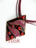 red Alloy &Swarovski Crystal&Enamel Necklace--NEW!!!
