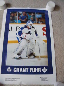 """FS: Grant Fuhr """"Toronto Maple Leaf Goalie"""" Promotional Sheet"""