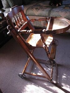 Antique Victorian, High feeding chair - Mint and rare! London Ontario image 1