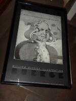 REDUCED Framed William Buerge Illustration $35.00