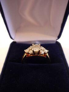 Seven 7 Stone Diamond Gold / White Gold Ring - NEVER WORN