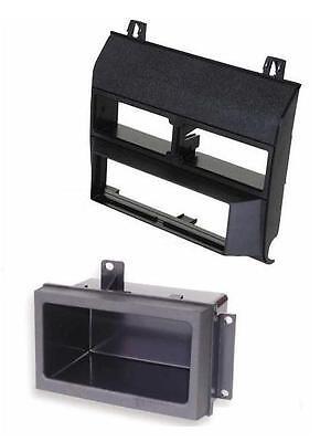(Car Stereo Radio Black Dash Kit Pocket Bezel Trim for Chevy GMC Trucks 1988-1994)