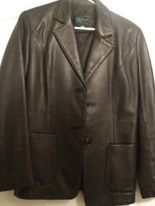 DC Collection Ladies Black Leather Jacket