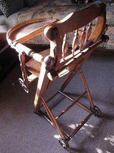 Antique Victorian, High feeding chair - Mint and rare! London Ontario image 2