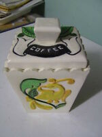 Vintage Ceramic Coffee Canister.