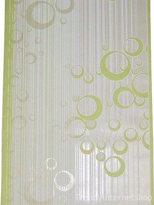 Rasch Tapete Vlies Vliestapete 456202 Retro Kreise grün weiß glänzend