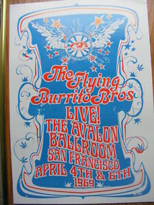 "FS: ""The Flying Burrito Brothers"" Live Concert Poster London Ontario image 1"