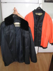 Fireman's Winter Coat (removable Neon Liner)--SIZE 42 (LIKE NEW)