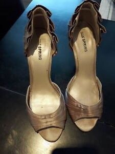 Champagne high heels from Spring - worn only once