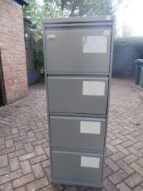 """Triumph"" 4 drawer steel filing cabinet"