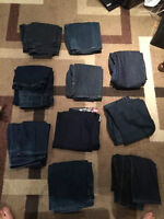 10 Pairs of Jeans from Size 30-33, Designer Jeans for CHEAP