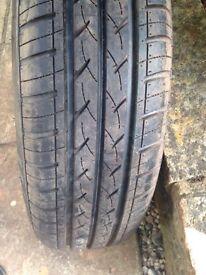 Runway spare wheel tyre car