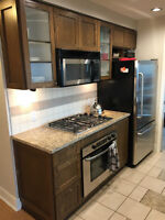 Full kitchen - counters, cabinets, 5 appliances