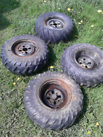 4 honda rims with tires 110 bolt pattern