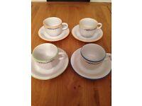 Set of four cappuccino mugs
