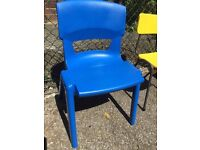 Royal Blue Stacking School Chair