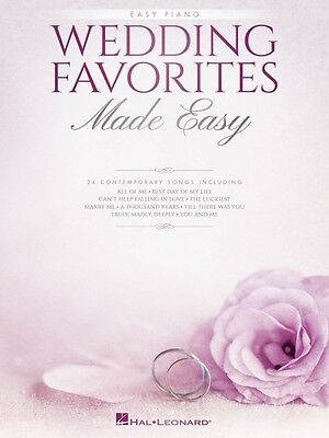 Wedding Favorites Made Easy Sheet Music Easy Piano SongBook NEW 000192511 Wedding Easy Piano