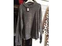 River island grey jumper brand new with tags