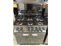A Parry 6 burner cooker with double door oven