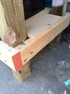 Work bench - sturdy double layer shelving