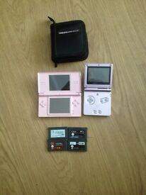 Nintendo gameboy and DS and 4 games