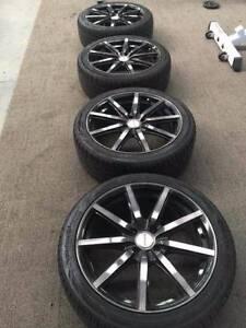 "18"" 4x100 GMAX Wheels - Gun Metal Grey Somerton Hume Area Preview"