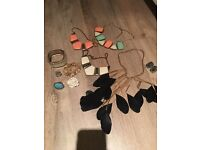 Selection of necklaces/rings/earrings