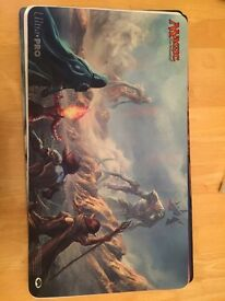 Assorted magic the gathering playmats