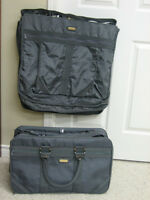 GOOD QUALITY 2 PC. LUGGAGE-SUITCASE & GARMENT BAG $23.00