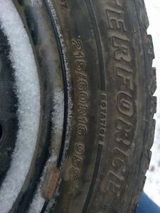 Firestone Studded Winter Tires 215/60R16