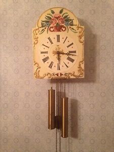 Vintage antique German made wall clock old