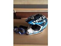 Child's Quad / motorcycle helmet and goggles