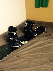 Morrow Snowboard, firefly bindings, and k2  boots