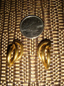Pierced Earrings #3 Gold swirl tone Regina Regina Area image 1
