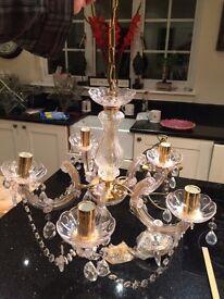 Gold, Glass effect Chandelier