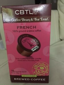 CBTL brewed coffee capsules