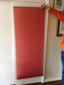 Four roll-up window blinds