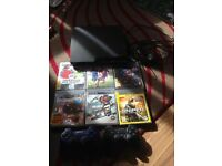 PS3 Console and 6 games , 2 controllers. Leads. £50
