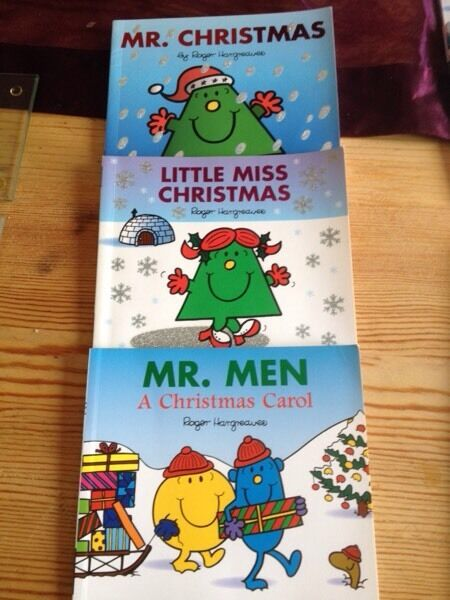 Mr men & little miss christmas books Sold subject to collection