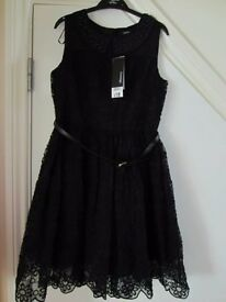 Brand new with tags girls Stunning black George lace dress 11/12yrs