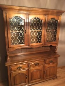 China cabinet in great shape - solid wood 150 OBO