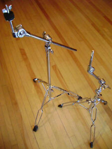 STEEL SNARE & STAND, BOOM STANDS, SKINS, KICK DRUM