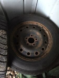* REDUCED* 4 Goodyear Ultragrip winter tires and rims Kawartha Lakes Peterborough Area image 2