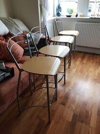 Four kitchen high stools