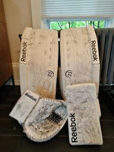 Reebok 14k goalie set, pads, blocker, glove; great shape!