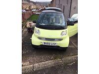 2002 smart car city, 12 months mot, 69k, £30 a year tax.