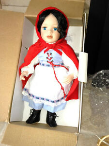 Red Riding Hood Porcelin Doll * Rare and very collectable.