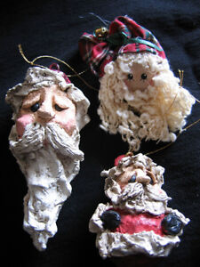 HAND CRAFTED GNARLY SANTA TREE ORNAMENTS